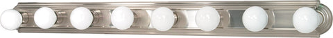 Nuvo 60-303 - 8-Lights Vanity Light Bar Racetrack Style in Brushed Nickel Finish