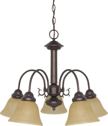 Nuvo 60-3101 - Chandelier in Mahogany Bronze Finish with Champagne Linen Glass