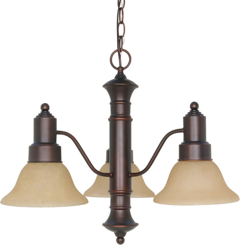 Nuvo 60-3104 - Small Chandelier in Mahogany Bronze Finish