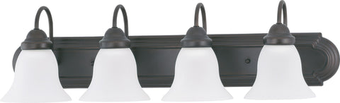 Nuvo 60-3163 - Vanity Light Fixture in Mahogany Bronze with Frosted White Glass