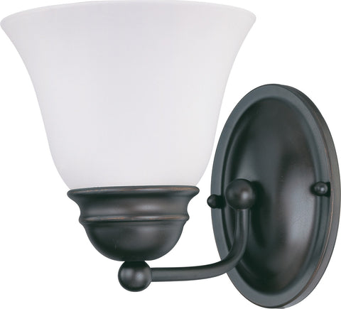 Nuvo 60-3165 - Vanity Light Fixture in Mahogany Bronze with Frosted White Glass