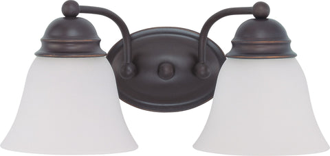 Nuvo 60-3166 - Vanity Light Fixture in Mahogany Bronze with Frosted White Glass