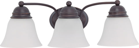 Nuvo 60-3167 - Vanity Light Fixture in Mahogany Bronze with Frosted White Glass