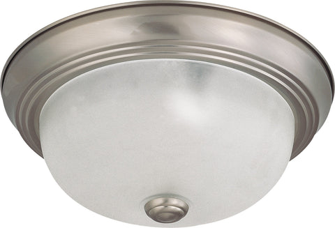 Nuvo 60-3261 - Small Flush Mount Ceiling Light in Brushed Nickel Finish