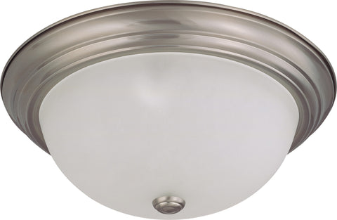 Nuvo 60-3263 - Large Flush Mount Ceiling Light in Brushed Nickel Finish