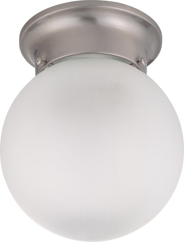 Nuvo 60-3299 - Flush Mount Ball Ceiling Light in Brushed Nickel Finish