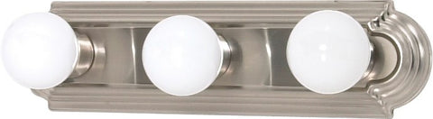 Nuvo 60-3301 - Racetrack Style Vanity Light Fixture in Brushed Nickel Finish