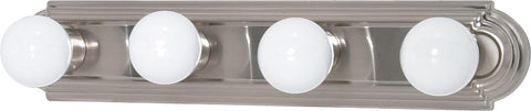 Nuvo 60-3302 - Racetrack Style Vanity Light Fixture in Brushed Nickel Finish