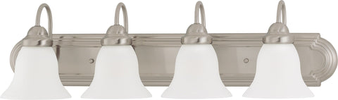 Nuvo 60-3324 - Vanity Fixture in Brushed Nickel Finish with Frosted White Glass