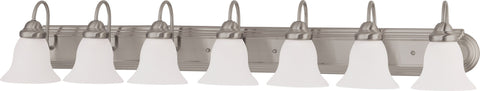 Nuvo 60-3327 - Vanity Fixture in Brushed Nickel Finish with Frosted White Glass