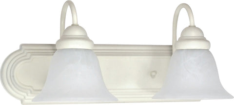 Nuvo 60-332 - Wall Mounted Vanity Fixture in Textured White Finish