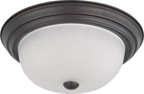 "Nuvo 60-3336 - 13"" Flush Mount Ceiling Light in Mahogany Bronze Finish"