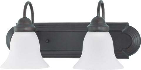 Nuvo 60-3351 - Vanity Light Fixture in Mahogany Bronze Finish with Frosted Glass