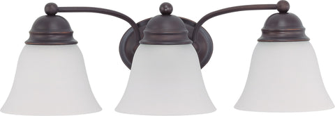 Nuvo 60-3357 - Vanity Light Fixture in Mahogany Bronze Finish with Frosted Glass