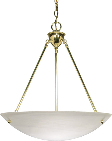 Nuvo 60-372 - Hanging Pendant Light Fixture in Polished Brass Finish