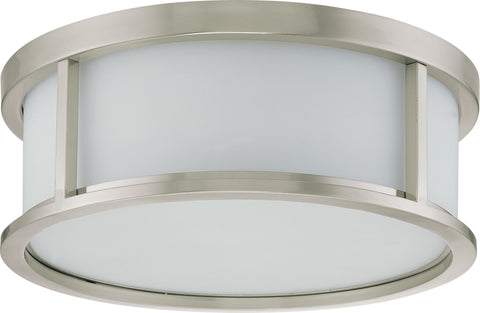 Nuvo 60-3813 - Large Flush Mount Ceiling Light in Brushed Nickel Finish