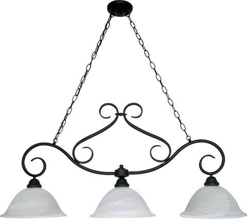 Nuvo 60-382 - Island Pendant Light Fixture in Textured Flat Black Finish