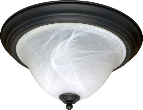 Nuvo 60-383 - Dome Flush Light Fixture in Textured Flat Black Finish