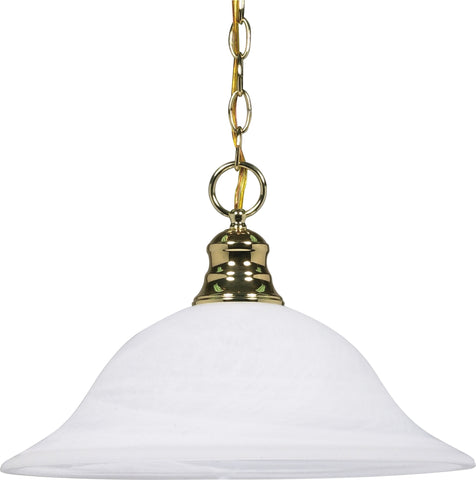 Nuvo 60-392 - Dome Hanging Pendant Light in Polished Brass Finish