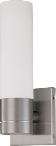 Nuvo 60-3953 - Vertical Wall Sconce in Brushed Nickel Finish with White Glass