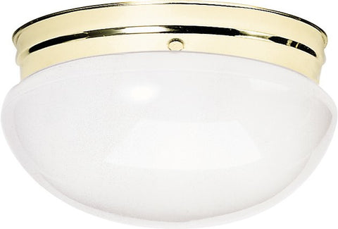 Nuvo 60-402 - Large Flush Mount Ceiling Light in Polished Brass Finish