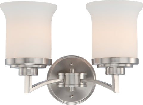 Nuvo 60-4102 - Vanity Light Fixture in Brushed Nickel Finish