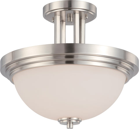 Nuvo 60-4107 - Semi Flush Mount Lighting Fixture in Brushed Nickel Finish