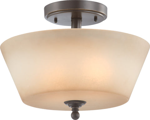 Nuvo 60-4171 - Semi Flush Mount Ceiling Light in Vintage Bronze Finish