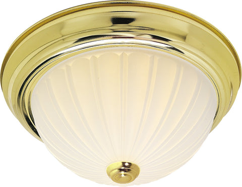 "Nuvo 60-440 - 11"" Dome Flush Mount Ceiling Light in Polished Brass Finish"