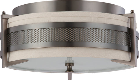 Nuvo 60-4436 - Medium Flush Mount Ceiling Light in Hazel Bronze Finish