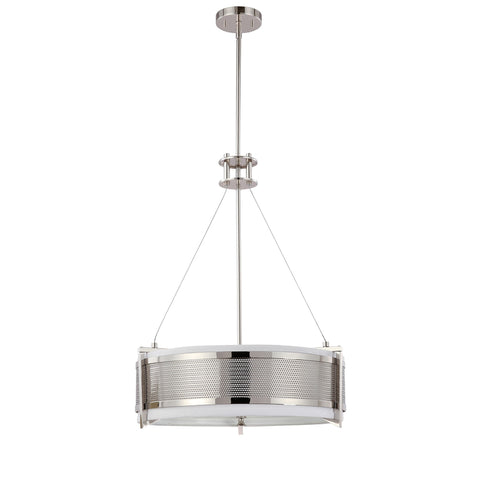 Nuvo 60-4443 - Round Pendant Light in Polished Nickel Finish