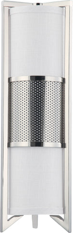 Nuvo 60-4449 - Vertical Wall Sconce in Polished Nickel Finish