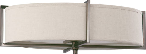 Nuvo 60-4459 - Oval Flush Mount Ceiling Light in Hazel Bronze Finish