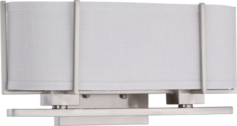 Nuvo 60-4464 - Vanity Fixture in Brushed Nickel Finish with Slate Grey Shade