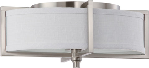 Nuvo 60-4468 - Oval Flush Mount Ceiling Light in Brushed Nickel Finish