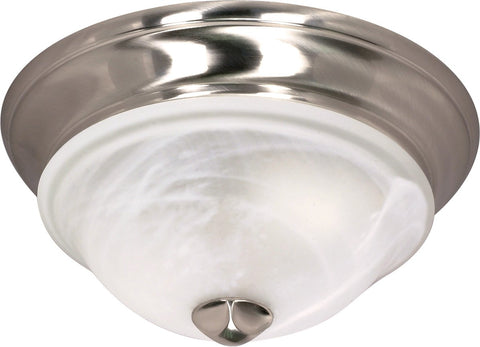 Nuvo 60-461 - Small Dome Flush Mount Lighting Fixture in Brushed Nickel Finish