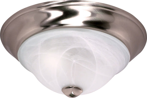 Nuvo 60-462 - Medium Dome Flush Mount Lighting Fixture in Brushed Nickel Finish
