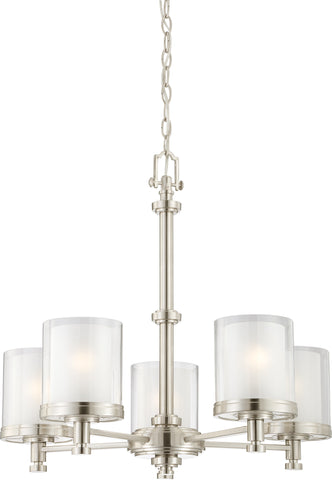 Nuvo 60-4645 - Chandelier in Brushed Nickel Finish