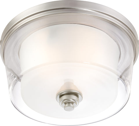 "Nuvo 60-4652 - 16"" Flush Mount Light Fixture in Brushed Nickel Finish"