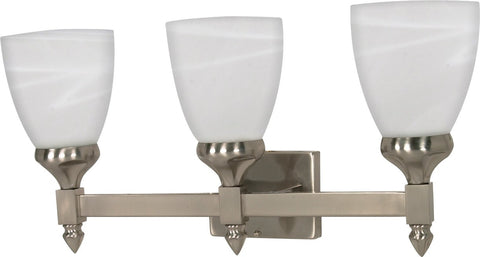 Nuvo 60-468 - Wall Mounted Vanity Fixture in Brushed Nickel Finish