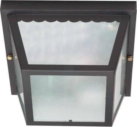 Nuvo 60-473 - Flush Mount Metal Frame Carport Lighting Fixture in Black Finish