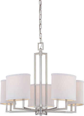 Nuvo 60-4755 - Contemporary Chandelier in Brushed Nickel Finish