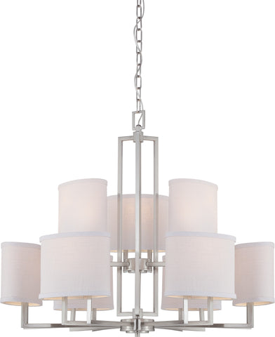Nuvo 60-4759 - Contemporary Chandelier in Brushed Nickel Finish