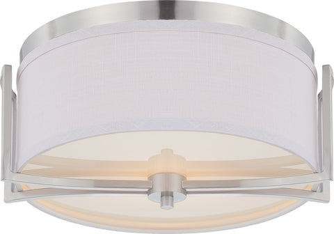 Nuvo 60-4761 - Flush Mount Lighting Fixture in Brushed Nickel Finish