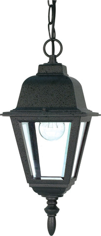 Nuvo 60-489 - Outdoor Hanging Lantern in Textured Black Finish with Clear Glass