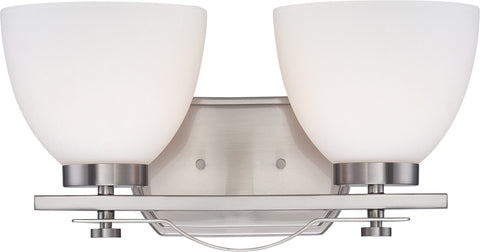 Nuvo 60-5012 - Wall Mounted Vanity Light in Brushed Nickel Finish