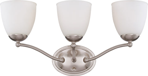Nuvo 60-5033 - Wall Mounted Vanity Light in Brushed Nickel Finish