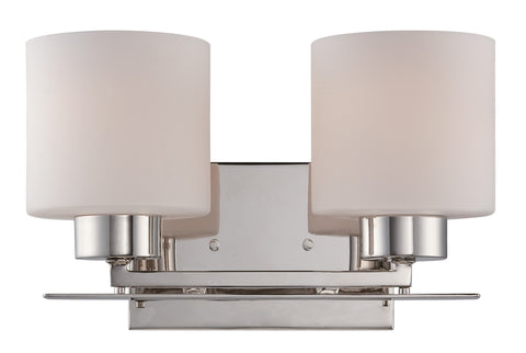 Nuvo 60-5202 - Wall Mounted Vanity Light in Polished Nickel Finish