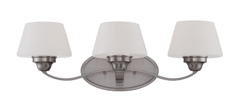 Nuvo 60-5223 - Wall Mounted Vanity Light in Brushed Nickel Finish