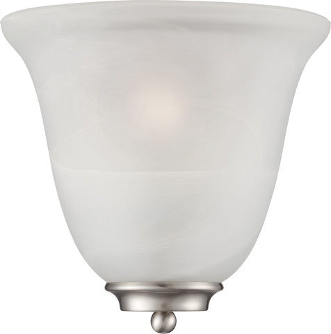 Nuvo 60-5376 - Wall Sconce in Brushed Nickel Finish with a Alabaster Glass Shade
